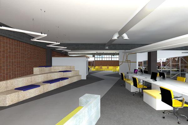 Διαμόρφωση χώρων γραφείων σε βιομηχανικό κτήριο 1