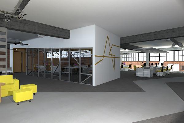 Διαμόρφωση χώρων γραφείων σε βιομηχανικό κτήριο 2